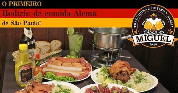 Rodízio de comida alemã no Chopp do Miguel Eventos BaresSP 570x300 imagem