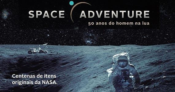 Exposição Space Adventure apresenta itens originais de missões da NASA  Eventos BaresSP 570x300 imagem
