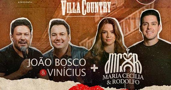 João Bosco & Vinícius e Maria Cecília e Rodolfo realizam show especial no Villa Country Eventos BaresSP 570x300 imagem