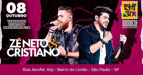 Zé Neto e Cristiano retornam ao CTN com nova turnê Eventos BaresSP 570x300 imagem