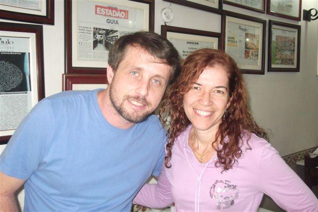 Jornalista Vitor Guedes e Celeste