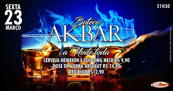 23/03/2018 - Boteco do Akbar Akbar