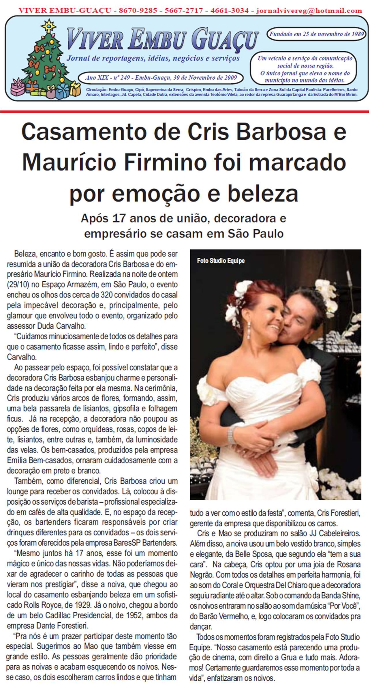 Baristas e bartenders do BaresSP no casamento da decoradora Cris Barbosa BaresSP image