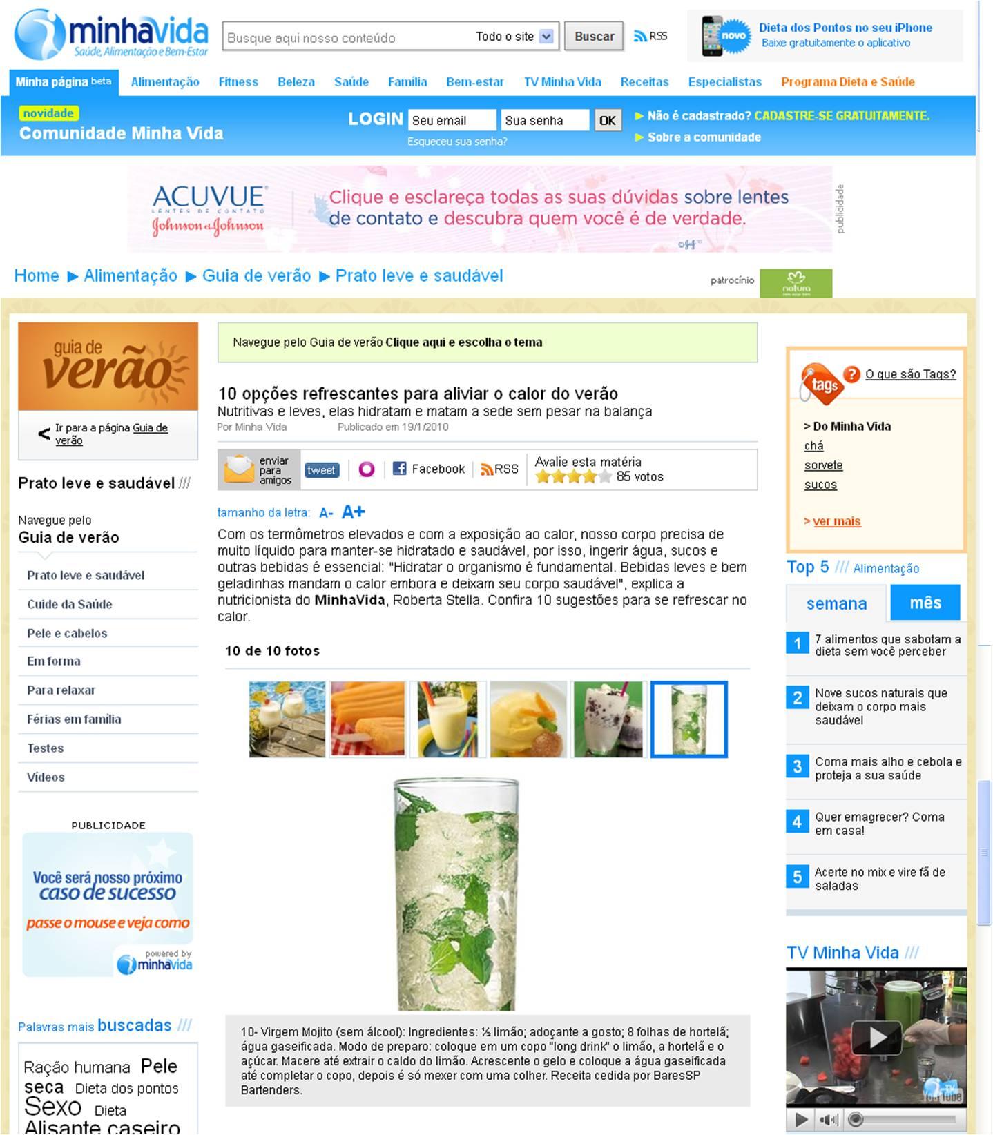 Receita do BaresSP Bartenders no Portal Minha Vida BaresSP image
