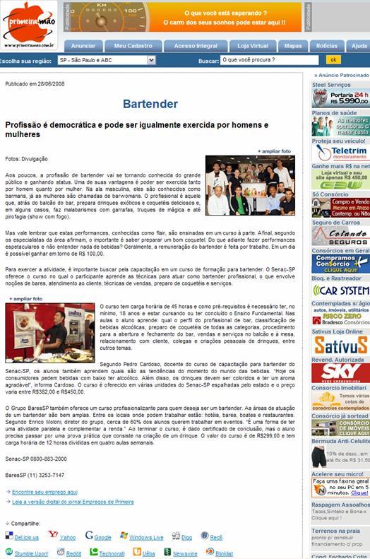 Bartender: Profissão democrática BaresSP image