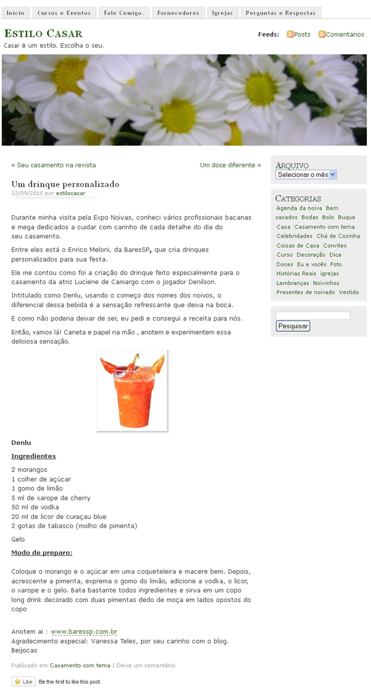 Um drinque personalizado BaresSP image
