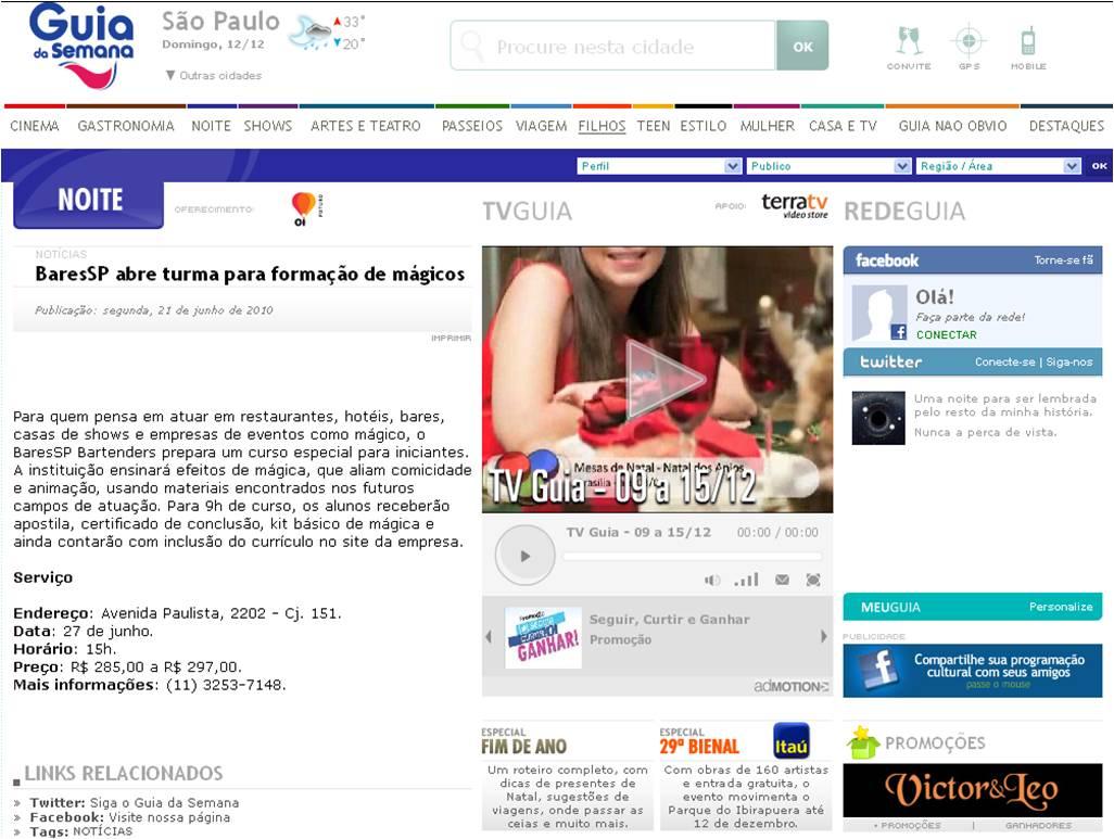 BaresSP abre turma para formação de mágicos BaresSP image