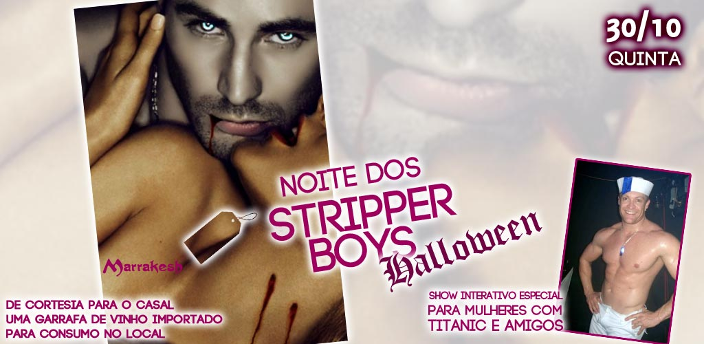 Noite dos Strippers Boys Halloween