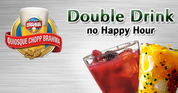 Double Drink no Happy Hour do Brahma Moema