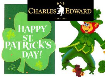Convite para o St Patricks Day no Charles Edward