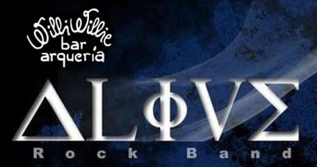 O melhor do universo Rock n'Roll com a Alive Rock Band no Willi Willie Bar e Arqueria
