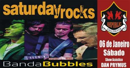 Banda Bubbles e Dan Prymus comandam a noite com pop rock no palco do Republic Pub