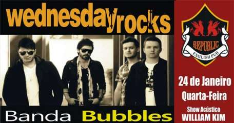 Banda Bubbles e William Kim comandam a noite com muito rock no Republic Pub