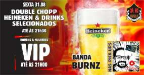 BaresSP Republic Pub recebe os agitos da banda Burnz e DJ Maia com pop rock