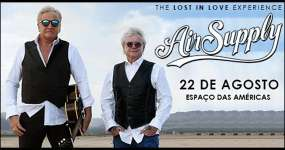 Eventos BaresSP Air Supply chega ao Brasil com a turnê Lost in Love Experience