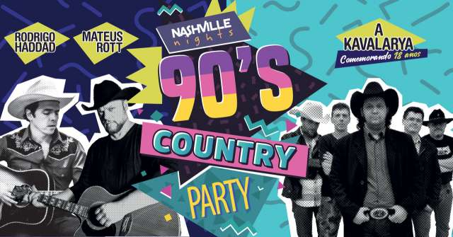 BaresSP Ton Ton Jazz recebe os agitos de Nashville Nights 90's Country Party